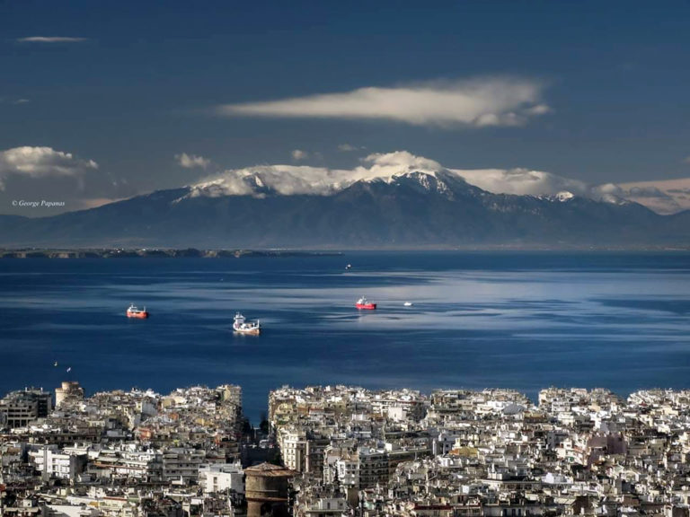The view of mount Olympus from Thessaloniki_μ